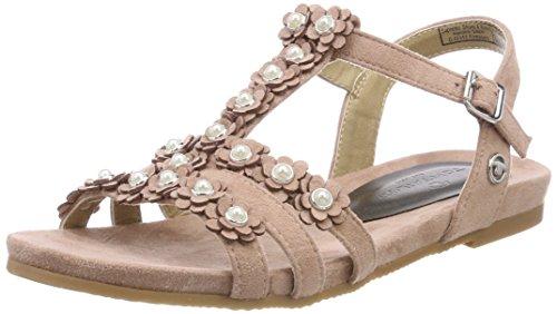 TOM TAILOR für Frauen Schuhe Sandalen mit Blumen-Applikationen Old Rose, 41
