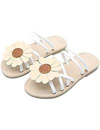 GUCIStyle Zapatos bebé, Niña Flores Zapatos Verano Zapatos de Princesa Sandalias para 0-8