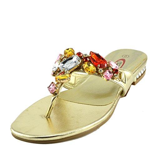 Kick Footwear Ladies Fashion Summer Sandals Gold