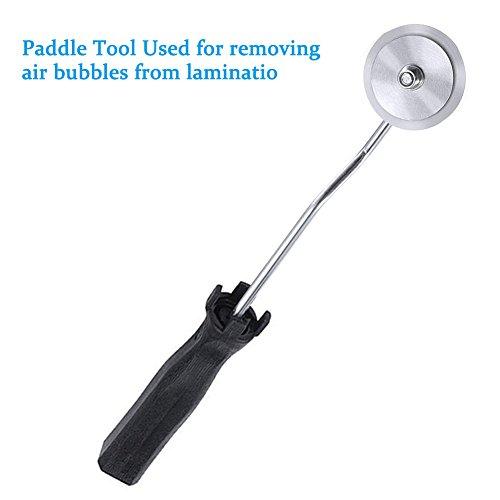 Cusfull 3pcs Kit de rodillo de burbujas de aleaci/ón de aluminio de fibra de vidrio para composite de resina moldeada