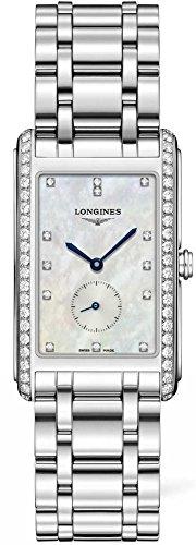 Longines Femme Bracelet & Boitier Acier Inoxydable Quartz Cadran Nacre Analogique Montre L57550876