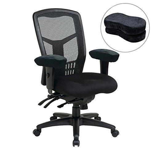 2Memory Foam Armlehne Pads für Büro Stuhl Weich Ellenbogen Kissen und Armlehne Kissen für Ellbogen Rest mit Anti-Rutsch-Boden für Arm stuhl Bezug -