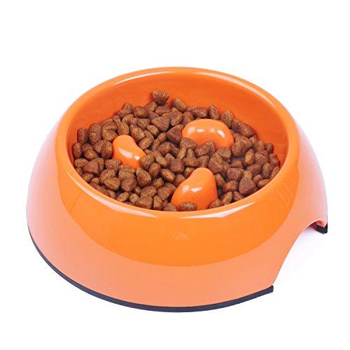 SuperDesign Melamin Anti-Schling Napf zum langsamen Fressen, für Hunde und Katzen, spülmaschinenfest