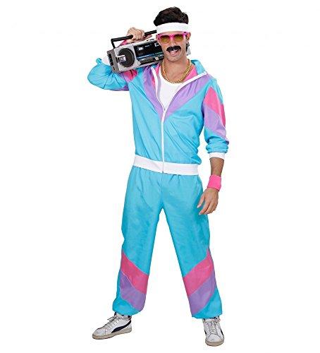 Kostüme Pumper (80er Jahre HERREN Trainingsanzug Kostüm Assi Pumper Achtziger Proll Asi Trash Bad Taste,)
