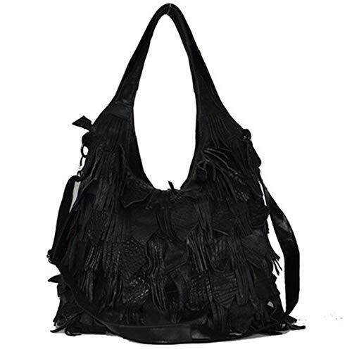 Eastery Handtaschen Frauen Soft Lammfell Leder Multicolor Tote Crossbody Umhängetasche (Farbe Einfacher Stil Mehrfarbig) Herren Täglich Shopping Handtasche Taschen -