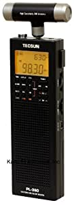 Kaito Tecsun Digital PLL Portable AM/FM Shortwave Radio with DSP (Black, PL360)