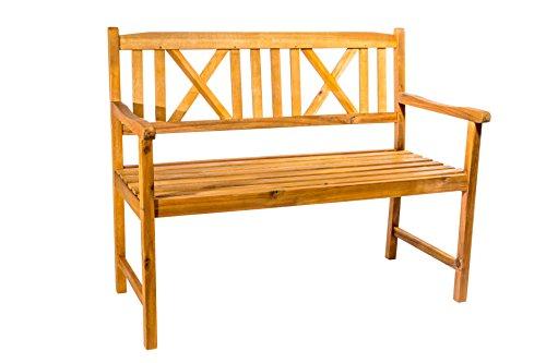 SAM 2-Sitzer Gartenbank Mykonos, Akazien-Holz geölt, FSC® 100{ebfc0fefa85052bbcadf411969d023826e3d8f7b079c5673257fd508f7be2203} Zertifiziert, Holzbank, massives Garten- & Balkonmöbel