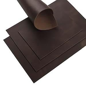 Rindsleder Braun Pull-Up Finish 3,0 mm Dick A4 Echt Leder Stück Leather 37