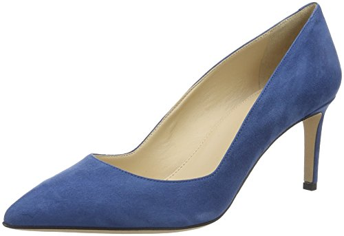 HUGO Damen Hellia-S 10195651 01 Pumps, Blau (Medium Blue 428), 35 EU