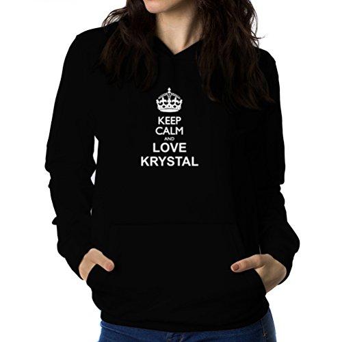 Felpe con cappuccio da donna Keep calm and love Krystal