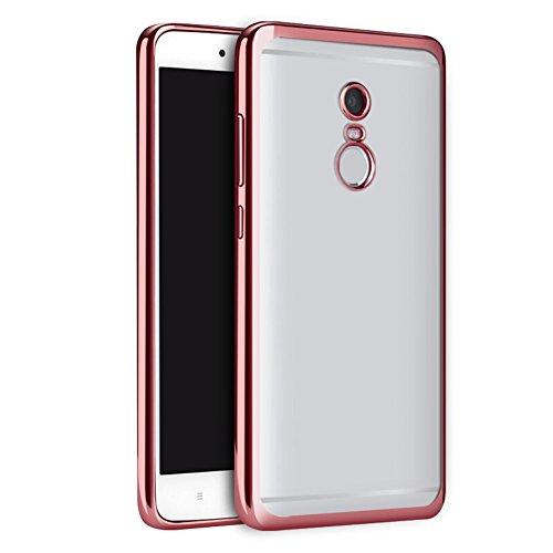 Coque Xiaomi Redmi Note 4, MSVII® TPU Souple Transparent Bumper Coque Etui Housse Case et Protecteur écran Pour Xiaomi Redmi Note 4 - Argent JY60007 Or rose