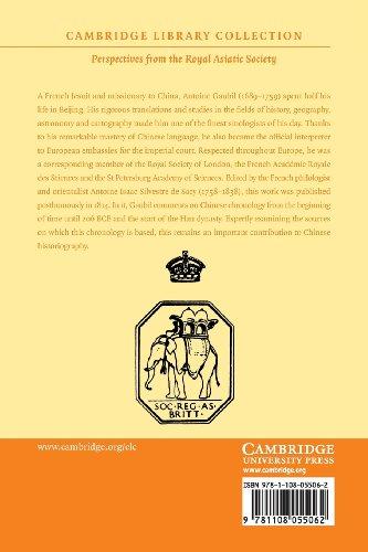 Traité de la chronologie chinoise, divisé en trois parties (Cambridge Library Collection - Perspectives from the Royal Asiatic Society)