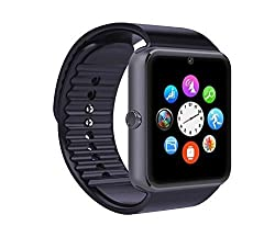 Life Like Gt08 Bluetooth Smartwatch With Sim & Sd Card Support - Black
