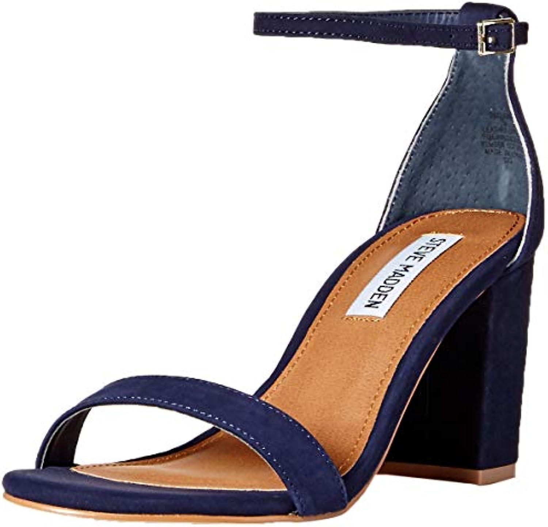 Steve Madden Wouomo Wouomo Wouomo DECLAIRW Heeled Sandal, Navy Nubuck, 5.5 W US   Prezzo giusto  86e259