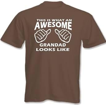 Lovetshirts ~ This Is What An Awesome Grandad Looks Like - Mens Funny T-Shirt - Chesnut, Medium
