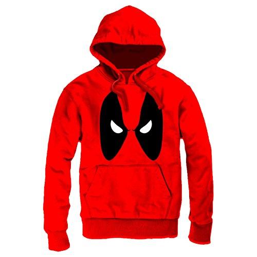 Deadpool -  Felpa con cappuccio  - Uomo rosso Medium