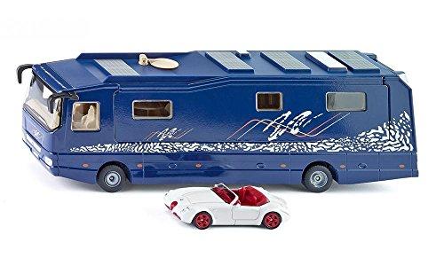 SIKU 1943, Camping-car Volkner, 1:50, Métal/Plastique, Bleu, Voiture jouet incluse, Pièces mobiles