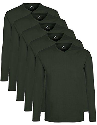 Lower East Herren T-Shirt mit V-Ausschnitt, 5er Pack