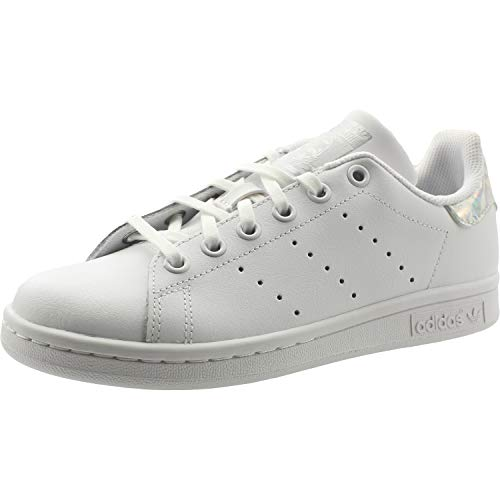 adidas Stan Smith J J, Chaussures de Gymnastique Mixte Enfant, Blanc FTWR White/Core Black, 35.5 EU
