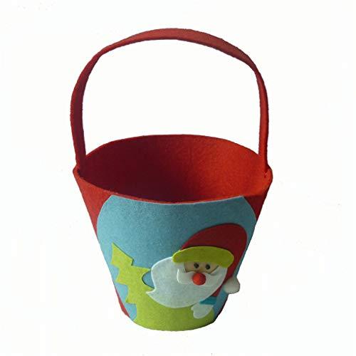 CAVIVI Santa Claus Candy Handtasche Tote Candy Bucket Geschenk für Halloween Kostüm Party Supplies Weihnachten Kinder, Santa Claus (Snack Maschine Kostüm)