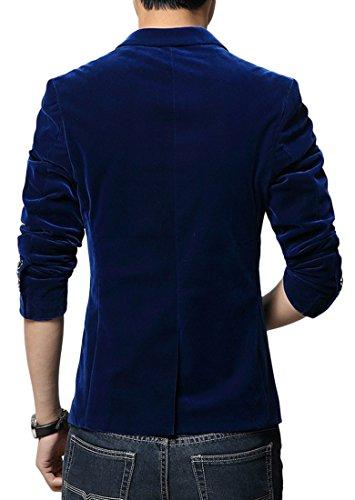 Insun - Veste de costume - Col Chemise Classique - Homme Light Blue