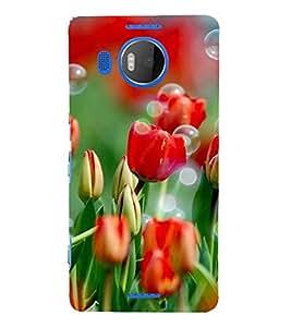 Fuson Designer Back Case Cover for Microsoft Lumia 950 XL :: Microsoft Lumia 950 XL Dual SIM (Flower Bloom Blossom Floret Floweret)