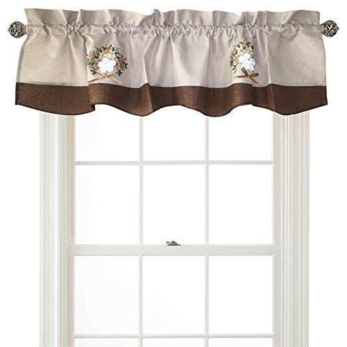Volant für Fenster, Leinen, 152,4 x 38,1 cm, Violett braun Violet Solid Tie