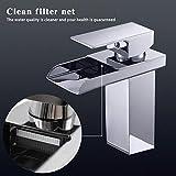 Mitigeur lavabo et robinet cascade 120 ° rotatif Mitigeur chaud et froid Mix Robinet...