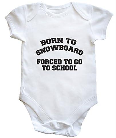 HippoWarehouse - Body - Bébé garçon - Blanc - 6-12 mois