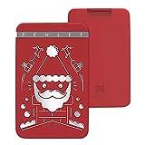 TAOtTAO - Style de Noël Zenlet - Emballage de Cartes de crédit - Portefeuille Anti-latéral, Red, 10x6.3x1.2cm