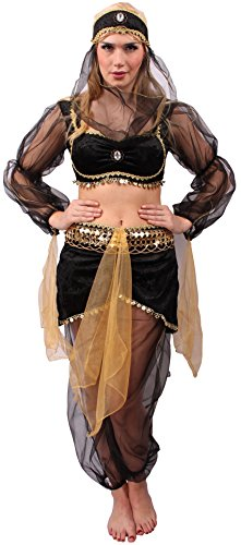 Orient Kostüm Wüsten-Prinzessin für Damen | Größe 40/42 | Bauchtänzerin Verkleidung für Erwachsene | Bollywood Karnevals-Kostüm | Arabische Prinzessin Faschings-Kostüm für Motto-Partys & Karneval