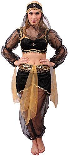 faschingskostueme bollywood Orient Kostüm Wüsten-Prinzessin für Damen   Größe 40/42   Bauchtänzerin Verkleidung für Erwachsene   Bollywood Karnevals-Kostüm   Arabische Prinzessin Faschings-Kostüm für Motto-Partys & Karneval