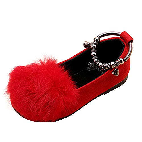 WHSHINE Kind Mädchen Prinzessin Schuhe, Mode Kleinkind Schuhe Mit Bogen Baby Einfarbig Frühling und Sommer Outdoor Einzelne Schuhe Freizeitschuhe