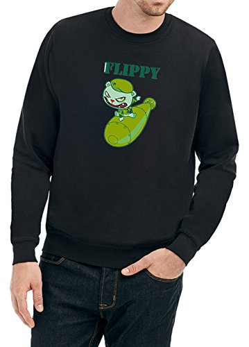 Green Bear Sweater Black Certified Freak-XL (Bear Sweatshirt Baumwolle Black)