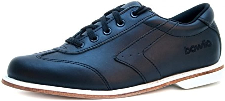 Bowlio-Nero bowling de zapatillas de cuero negro para adulto y niño  -