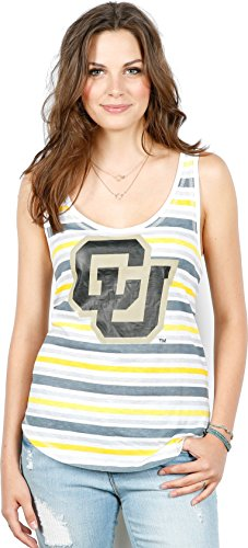 Unbekannt NCAA Tank, gestreift, Damen, Mehrfarbig, Medium -