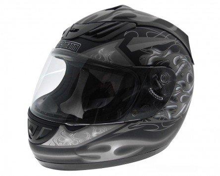 Einstellbare Wangenpolster (Integralhelm, Rollerhelm, Motorradhelm WACHMANN WA-30 Defensor silber / schwarz matt - Größe M)
