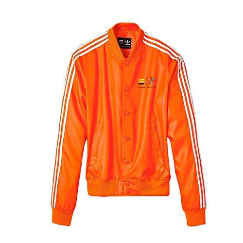 Adidas X, Motiv Pharrell Williams Orange Track Jacket Gr. M