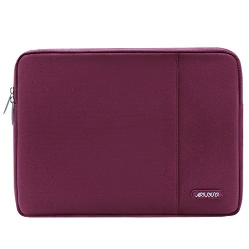 MOSISO Laptophülle für 13-13,3 Zoll MacBook Air, MacBook Pro, Notebook Computer, Polyester Wasserabweisend Vertikale Stil Sleeve Hülle Schutzhülle Laptoptasche Notebooktasche Case Bag, Weinrot