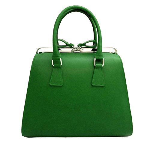Contessa dal pozzo Candy, Borsa a Mano Donna, 35 x 25 x 15 cm (W x H x L) Verde