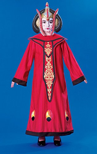 Star Wars Königin Amidala Kostüm für Kinder, (Halloween Amidala Kostüm Königin)