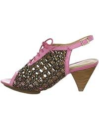 VIA UNO - Sandalias de vestir de Piel Lisa para mujer Marrón camel pink