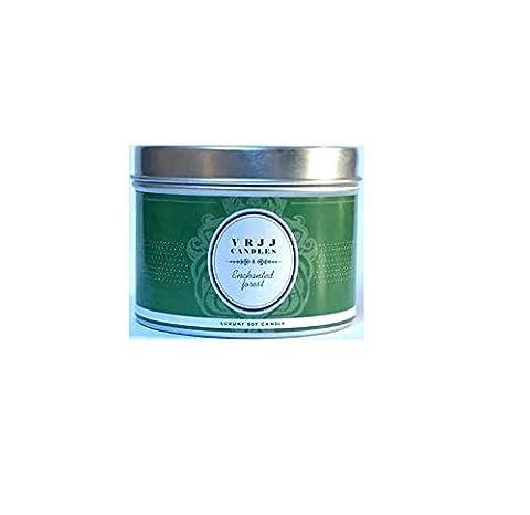 VRJJ Bougies®–Parfumée Bougie de soja–Forêt Enchantée–Bougie de soja–Fait Main et bougie coulée à la