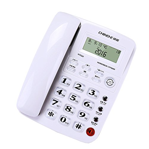 Unbekannt Telefon Home Office Business Hotel Festnetztelefon Festnetz Nr. Akku Caller ID Rot und Weiß Tricolor Wired Telefon