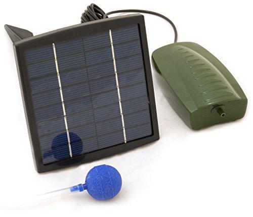 Oxbridge - Sauerstoffpumpe für den Gartenteich - solarbetrieben - 1 Sprudelstein (Solarbetriebene Camping-ausrüstung)