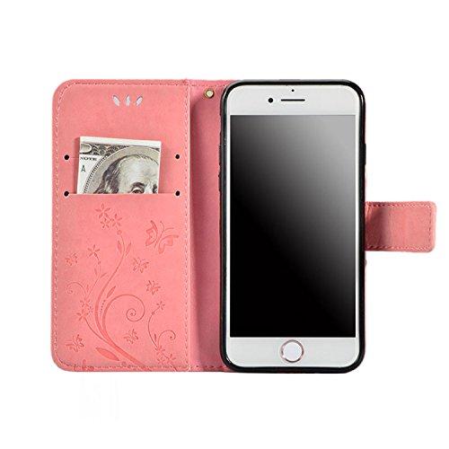 Schutzhülle für iPhone X,iPhone 10 PU Leder Hülle,Vandot [große Kapazität] Magnetische Brieftasche mit 9 Card Halter Slots Premium Multi-Function Geldbörse Portemonnaie Flip Cover Case Handy Tasche Sc Strass-Rosa