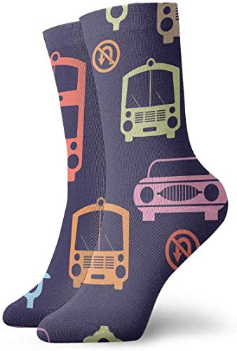 Love girl Cartoon Bus Mode Personalisierte Söckchen Sportliche Strümpfe Freizeitsocken 30cm Für Männer Frauen