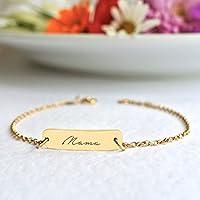 Personalised Gold Little Bar Script Bracelet 'Mama', Mum', Mummy', birthday gift for mum, bar bracelet, new mum gift