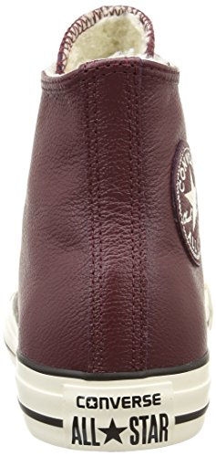 Converse Ct Shearling Hi, Sneakers Hautes femme Rouge (Bordeaux)