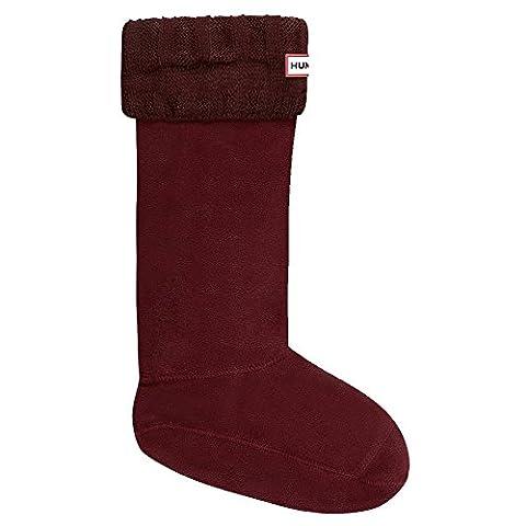 Hunter Women's Guernsey Boot Socks, Red,